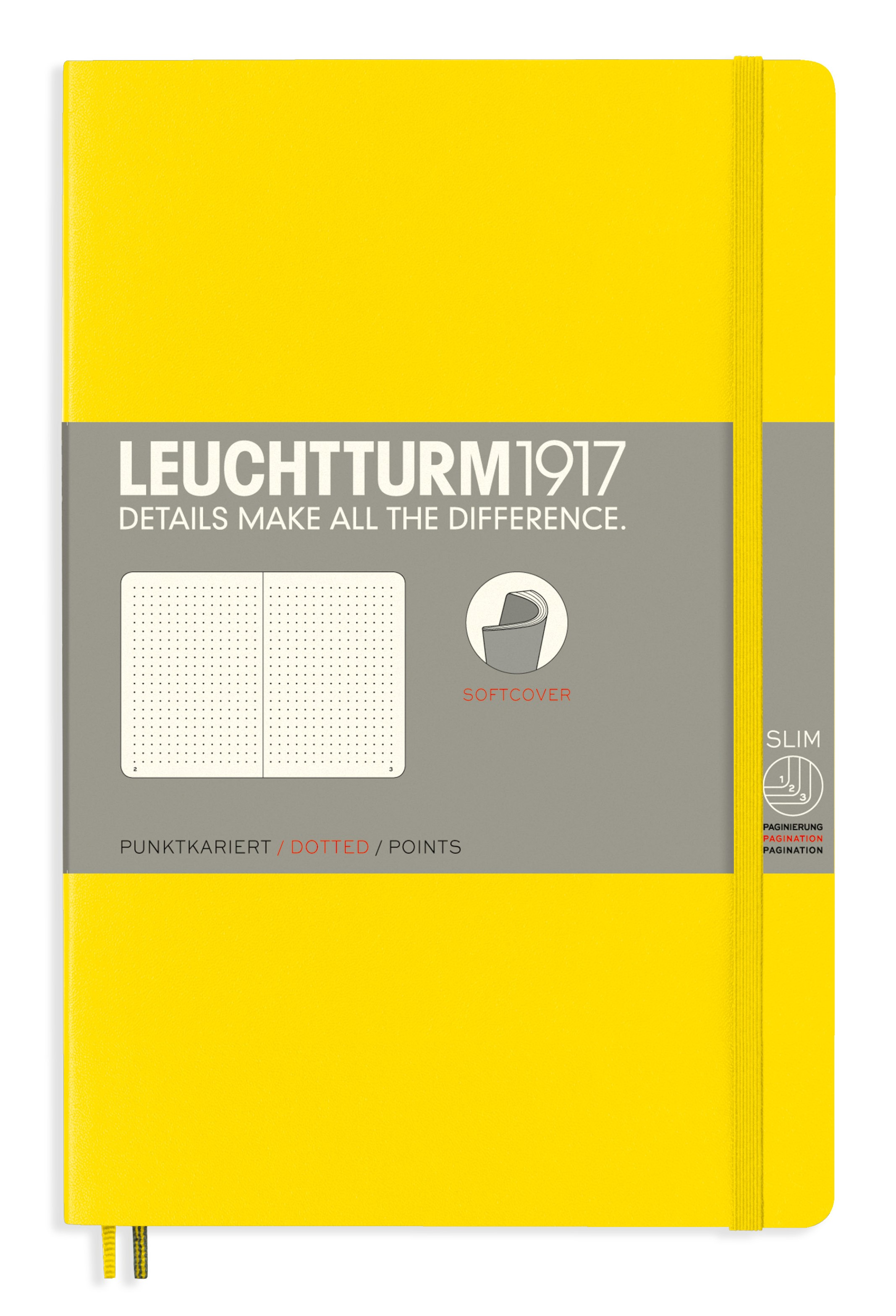 Lemon B6+ Dotted Softcover Notebook