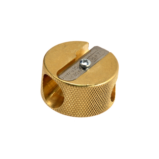 Brass Double Barrel Pencil Sharpener