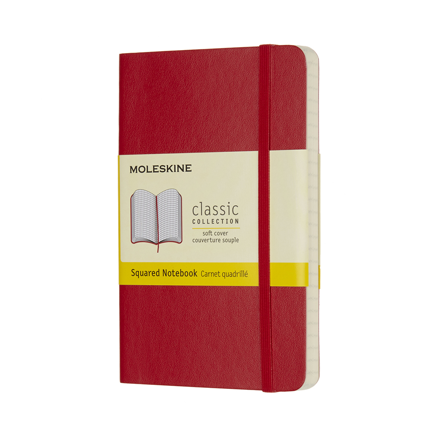 Scarlet Red Pocket Squared Soft Notebook