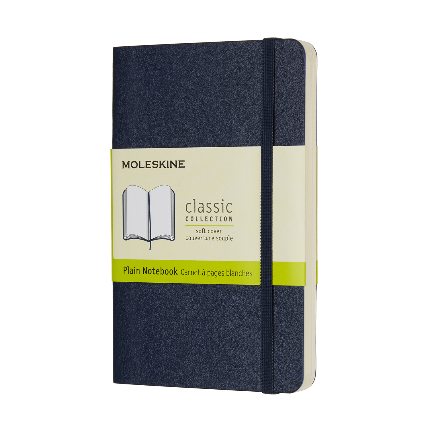 Sapphire Blue Pocket Soft Plain Notebook
