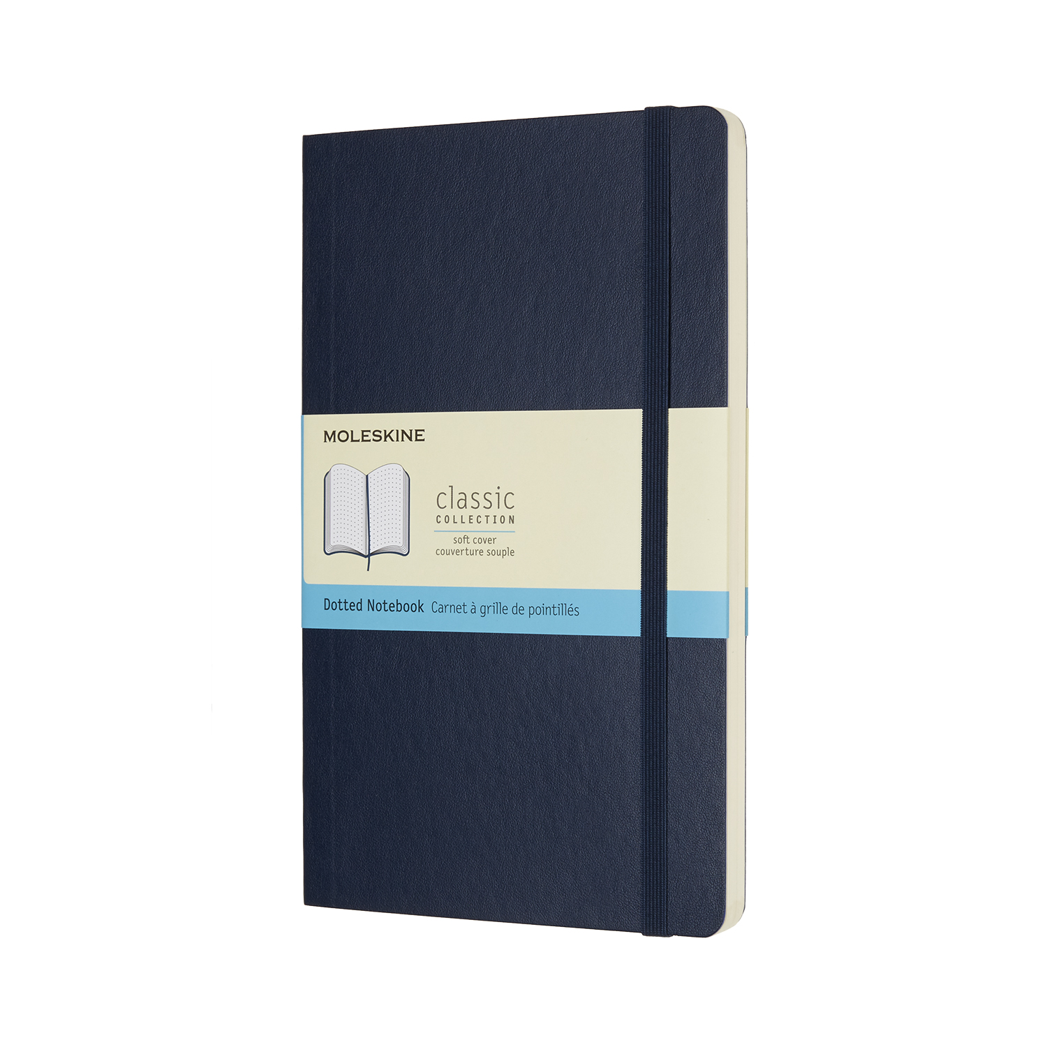 Sapphire Blue Large Dotted Soft Notebook