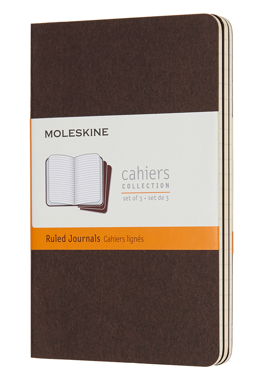 Cahier Pocket Ruled Coffee Brown...
