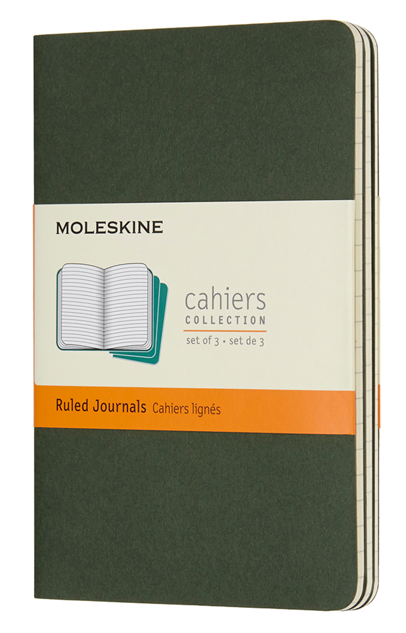 Cahier Pocket Ruled Myrtle Green...
