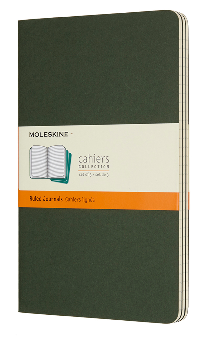 Cahier Large Ruled Myrtle Green Notebook