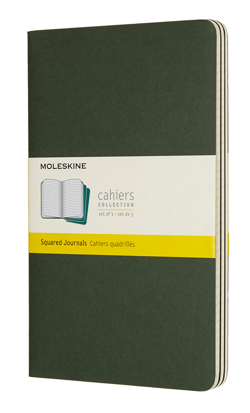 Cahier Large Squared Myrtle Green...