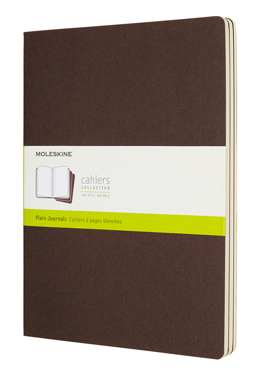 Cahier Extra Large Plain Coffee Brown...