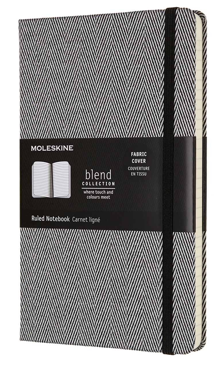 Black Blend Large Ruled Notebook