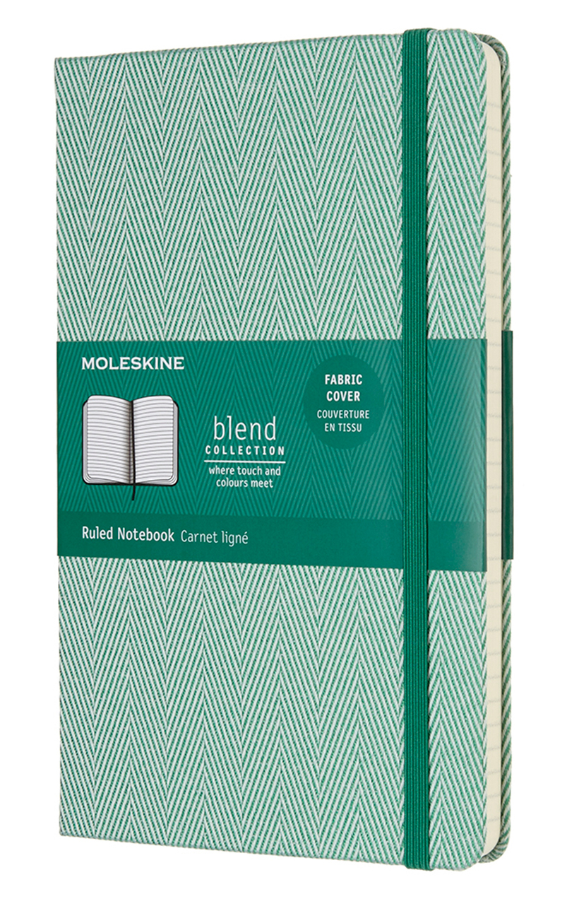 Green Blend Large Ruled Notebook