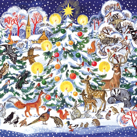 Christmas Tree Animals Large Sqr Pack...
