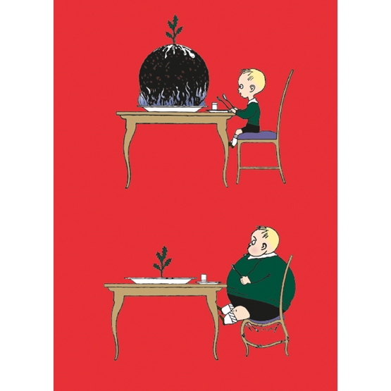 Xmas Charity Pudding Boy pack of 8 Cards