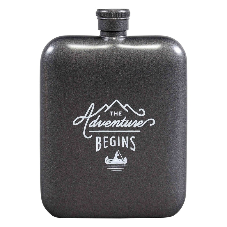 Adventure begins Hipflask (Outdoor)