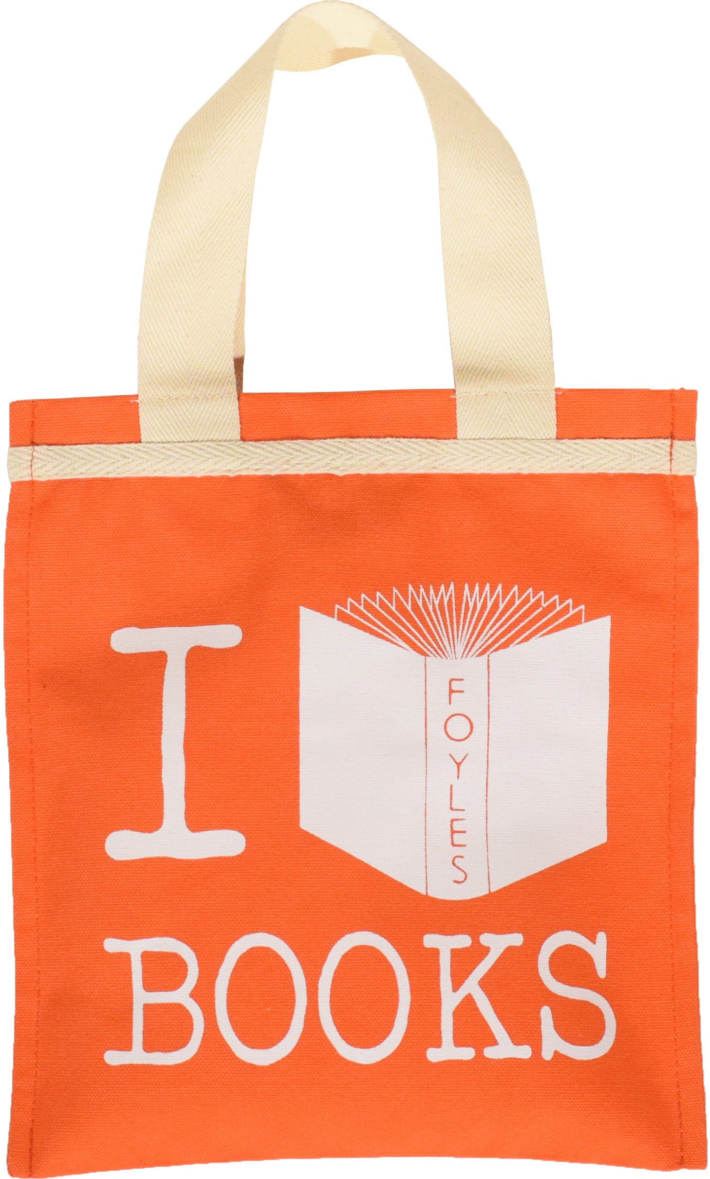 RED I LOVE BOOKS BAG