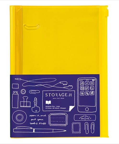 STORAGE.it Large Yellow Notebook