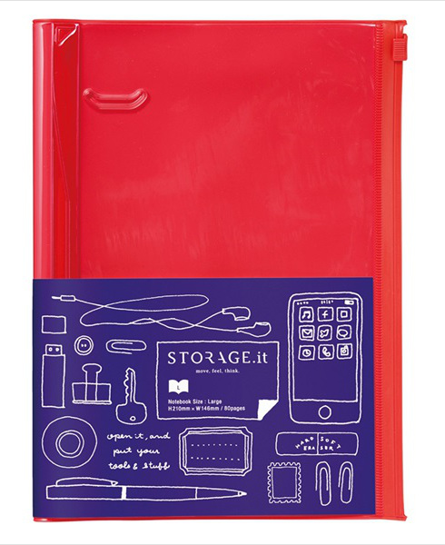 STORAGE.it Large Red Notebook