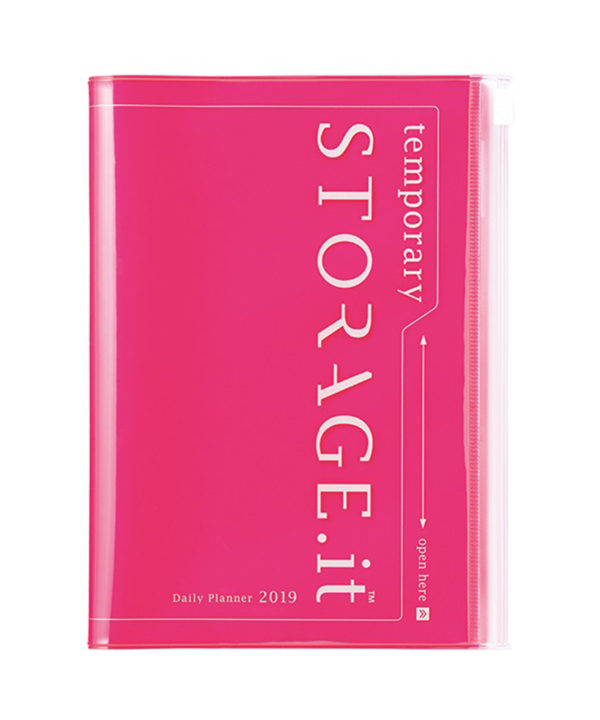 Storage.it Neon Pink Daily 12 Diary 2019