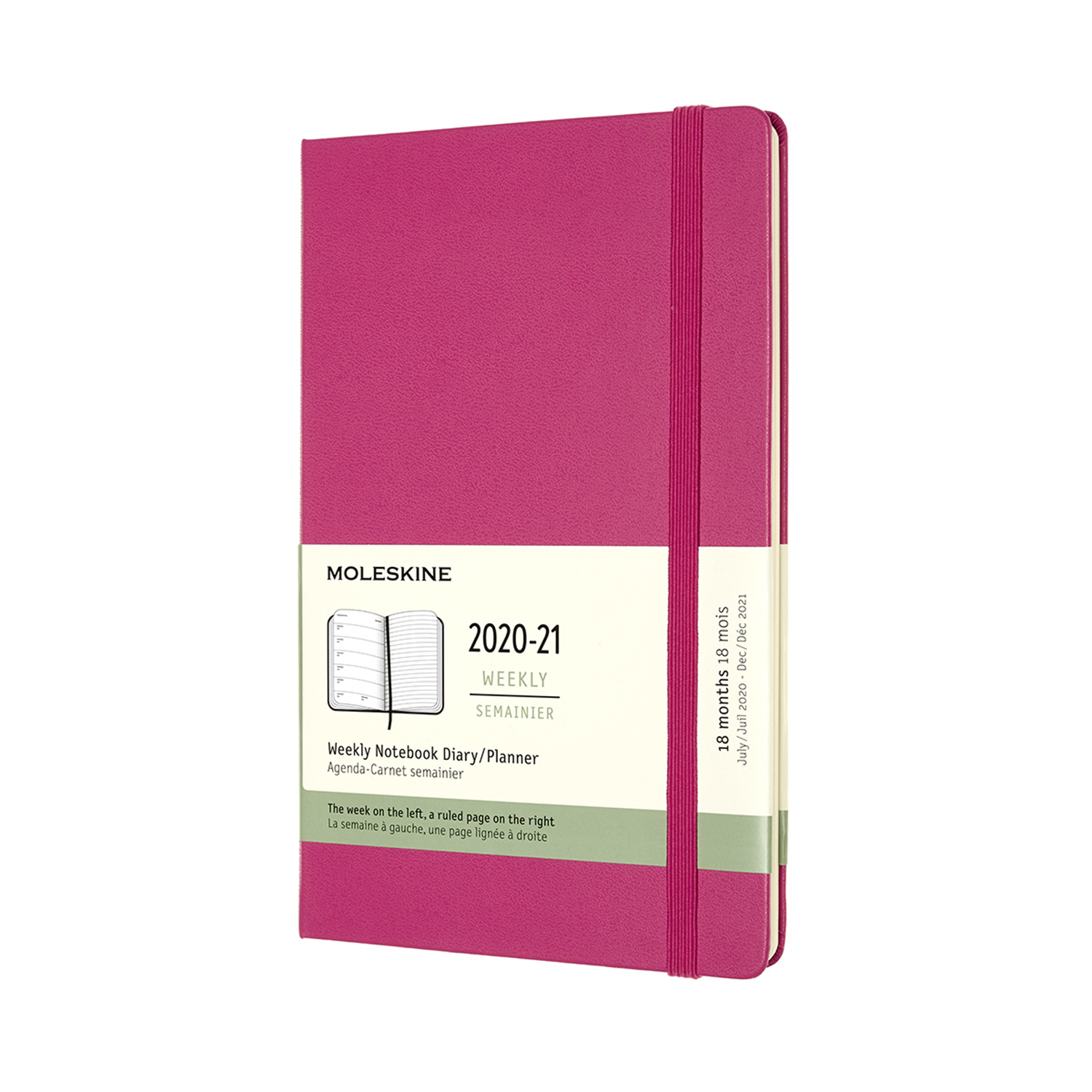 Pink Weekly Large Hard 18 Month Diary...