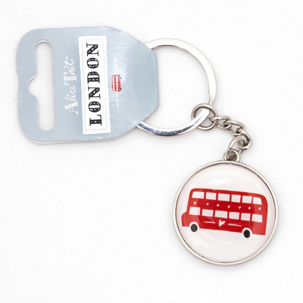 Alice Tait London Red Bus Keyring
