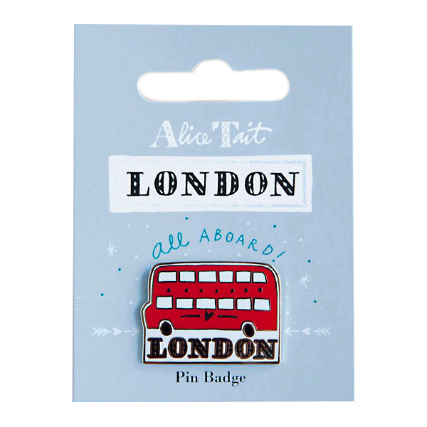 Alice Tait London Pin Badge Red Bus