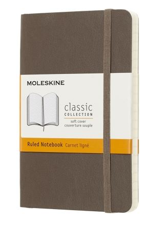 Earth Brown Pocket Ruled Notebook