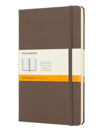 Earth Brown Large Ruled Notebook