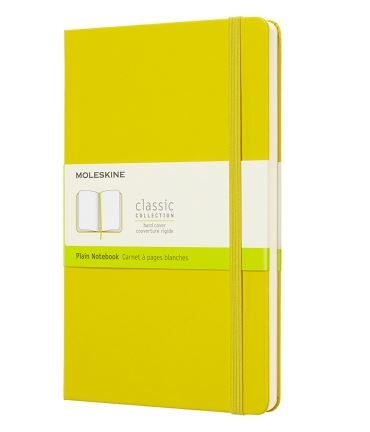 Dandelion Yellow Large Plain Notebook