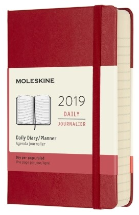 2019 Red Pocket Hardcover Daily 12...