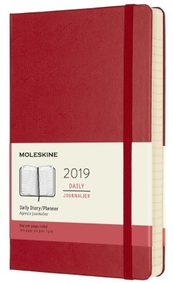 2019 Red Hardcover Daily Planner 12...