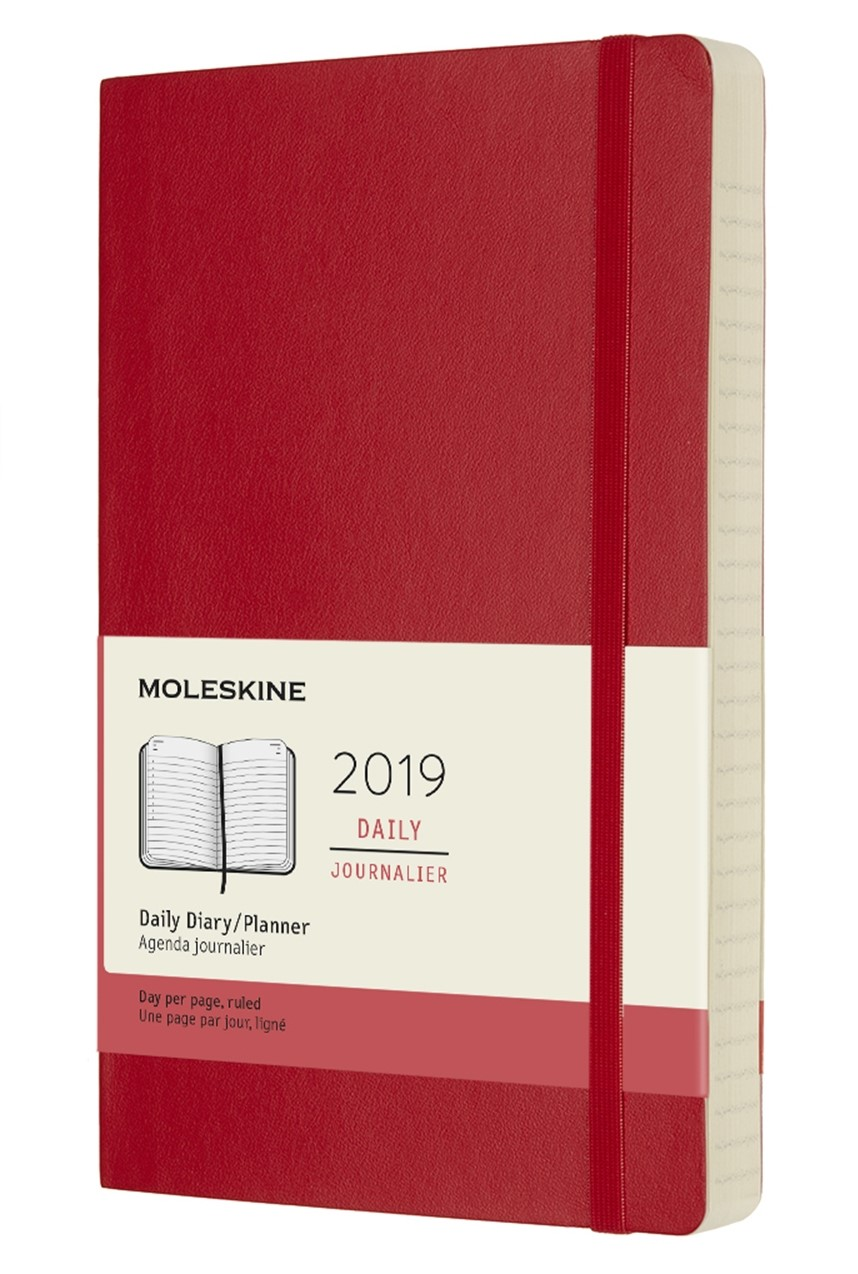 2019 Red Medium Softcover Daily...