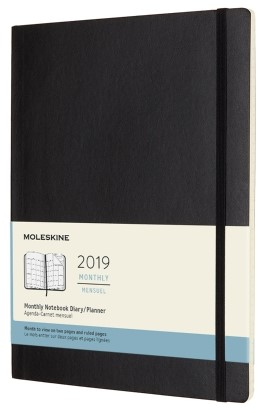 2019 Black X-Large Softcover Monthly...