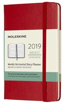 2019 Red Pocket Hardcover Horizontal...