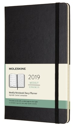 2019 Black Medium Hardcover Weekly...
