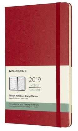 2019 Red Medium Hardcover Weekly...