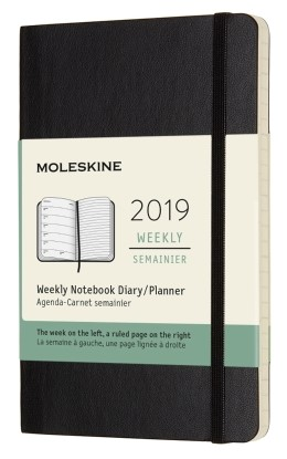 2019 Black Pocket Softcover Weekly...