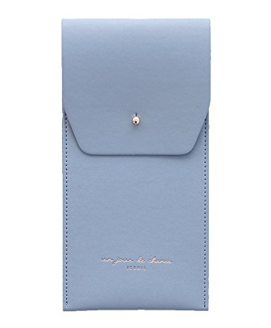 Pale Blue Slit Pencil Case