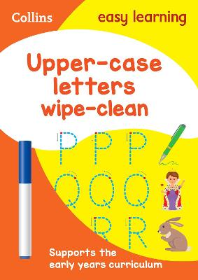 Upper Case Letters Age 3-5 Wipe Clean Activity Book: Prepare for Preschool with easy home learning (Collins Easy Learning Preschool)