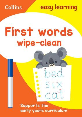 First Words Age 3-5 Wipe Clean Activity Book: Prepare for Preschool with easy home learning (Collins Easy Learning Preschool)