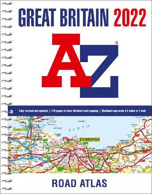 Great Britain A-Z Road Atlas 2022 (A4 Spiral)