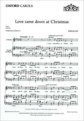 Love Came Down at Christmas: Vocal Score