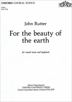 For the Beauty of the Earth: SATB Vocal Score