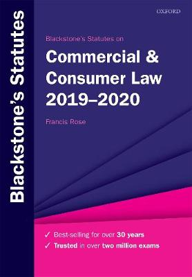 Blackstone's Statutes on Commercial & Consumer Law 2019-2020