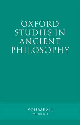 Oxford Studies in Ancient Philosophy, Volume 41