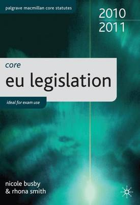 Core EU Legislation: 2010-11