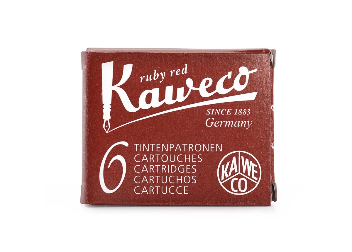 Ruby Red Kaweco Ink (6 Cartridges)