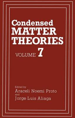 Condensed Matter Theories: v. 7