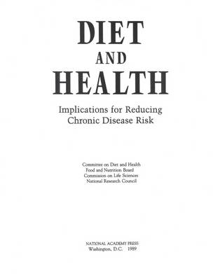 Diet and Health: Implications for Reducing Chronic Disease Risk