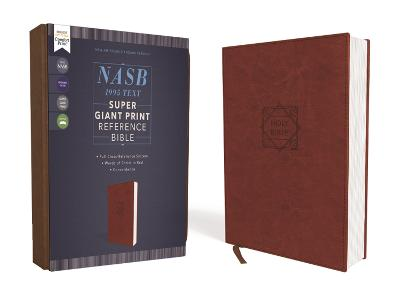 NASB, Super Giant Print Reference Bible, Leathersoft, Brown, Red Letter, 1995 Text, Comfort Print