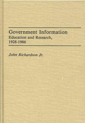 Government Information: Education and Research, 1928-1986