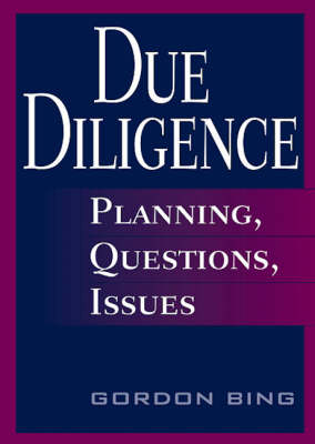 Due Diligence: Planning, Questions, Issues