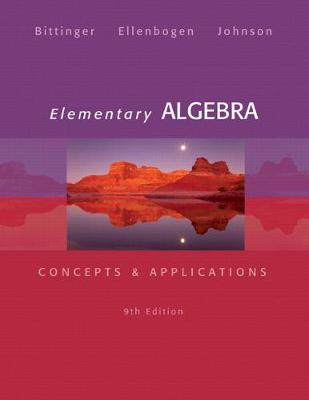 Elementary Algebra: Concepts & Applications
