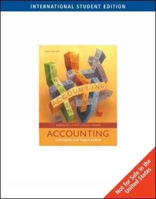 Accounting: Concepts and Applications, International Edition